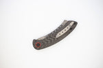 DAMASTEEL Hell Razor P Series Carbon Fiber Handle