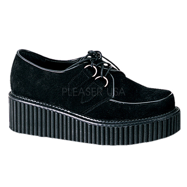 CREEPER-101 Women's Suede Creeper by Demonia Shoes