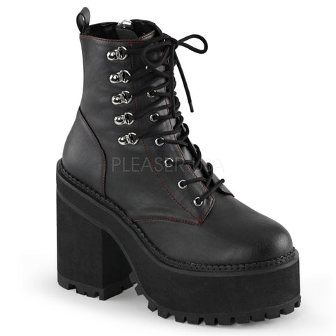 ASSAULT-100 Platform Gothic Boot by Demonia Shoes