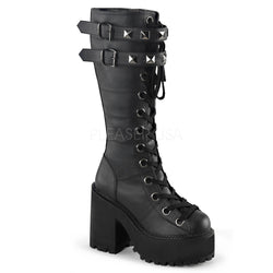 ASSAULT-202 Knee High Platform Boot by Demonia Shoes