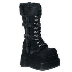 BEAR-202 Furry Platform Boot by Demonia Shoes