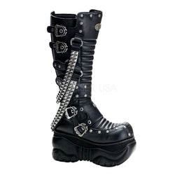 BOXER-206 Studded Gothic Boots by Demonia Shoes
