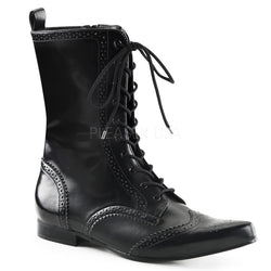 BROGUE-10 Gothic Boots by Demonia Shoes