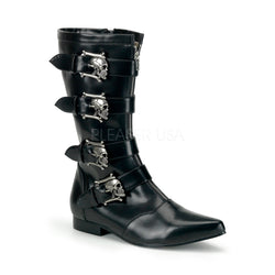 BROGUE-107 Gothic Skull Boots by Demonia Shoes