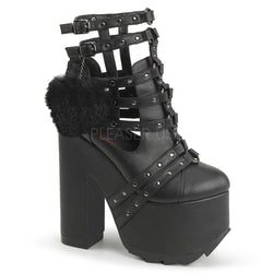 CRAMPS-05 Caged Ankle Boot by Demonia Shoes