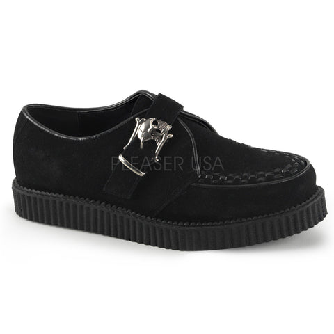 CREEPER-605 Skull Buckle Monk Creeper by Demonia Shoes