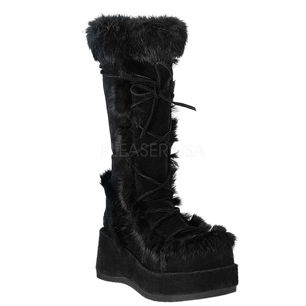 CUBBY-311 Furry Knee Boot by Demonia Shoes