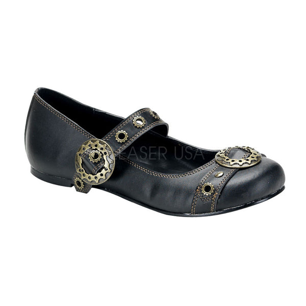 DAISY-09 Steampunk Flat by Demonia Shoes