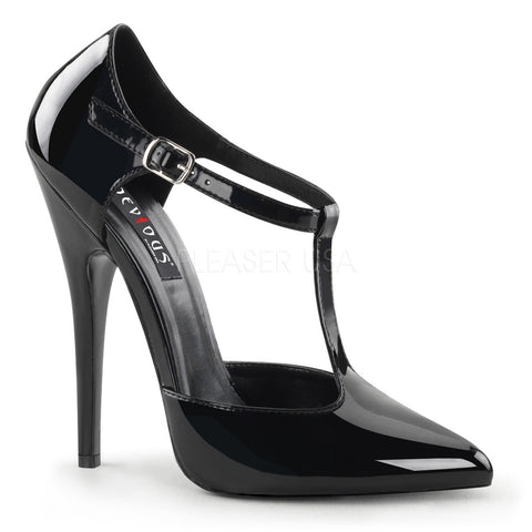 DOMINA-415 T-Strap Pump by Devious Shoes