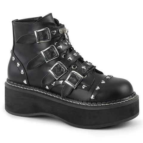 EMILY-315 Gothic Studded Boots by Demonia Shose