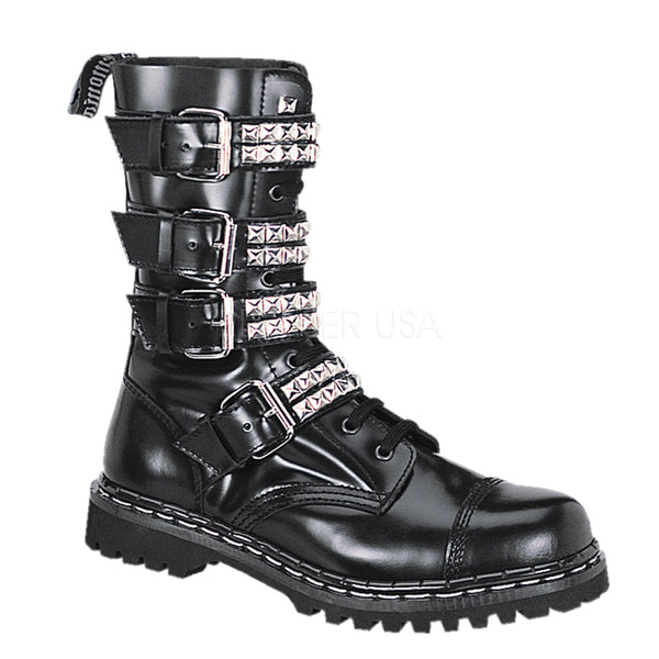 GRAVEL-10S Studded Combat Boot by Demonia Shoes