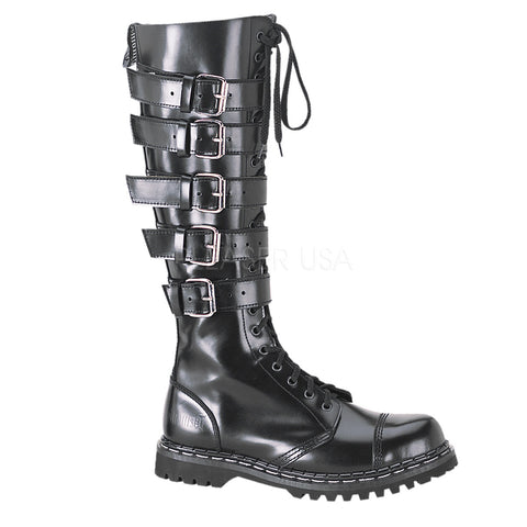 GRAVEL-20  20 Eyelet Punk Boots by Demonia Shoes