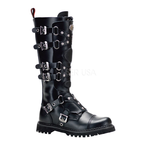 GRAVEL-22 Clearance Knee High Combat Boot by Demonia Shoes