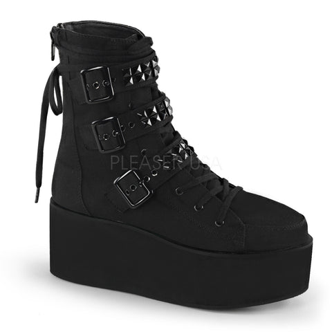 GRIP-101 Studded Strap Boot by Demonia