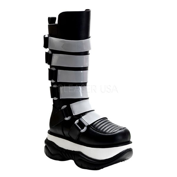 NEPTUNE-310UV 6 Strap Cyber Boots by Demonia Shoes