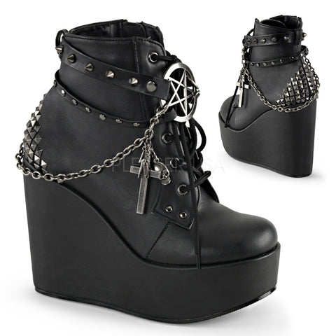 POISON-101 Gothic Ankle Boot by Demonia Shoes