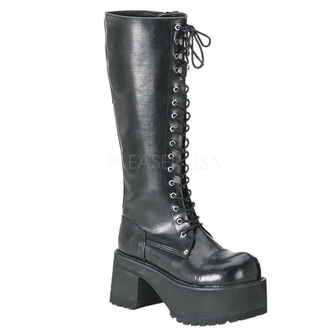 RANGER-302 Lace Up Knee High Boot by Demonia Shoes