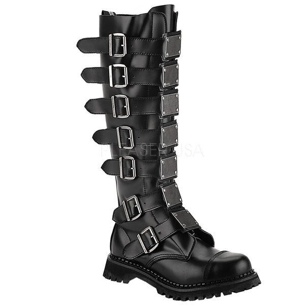 REAPER-30 30 Eyelet Combat Boots by Demonia Shoes