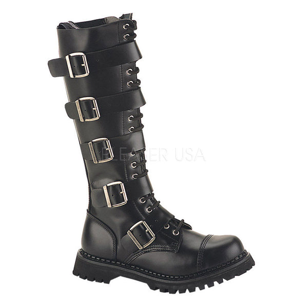 RIOT-20 20 Eyelet Boots by Demonia Shoes