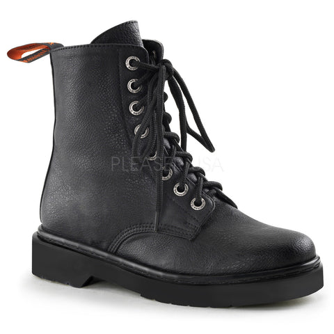 RIVAL-100 Vegan Combat Boots by Demonia Shoes
