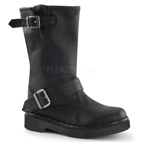 RIVAL-302 Motorcycle Calf Boot by Demonia Shoes