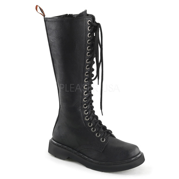 RIVAL-400 20 Eyelet Combat Boot by Demonia Shoes