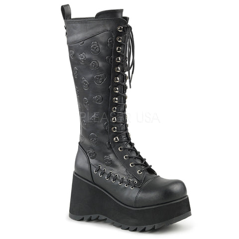 SCENE-107 Gothic Lace Up Boot by Demonia Shoes