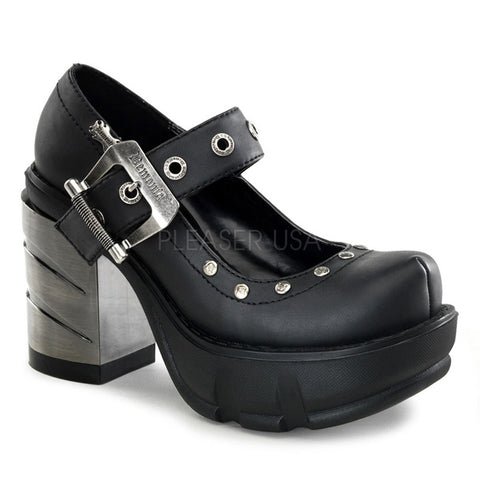 SINISTER-59 Mary Jane Gothic Shoe by Demonia Shoes