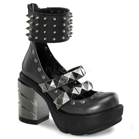 SINISTER-62 Ankle Cuff Gothic Shoes by Demonia Shoes