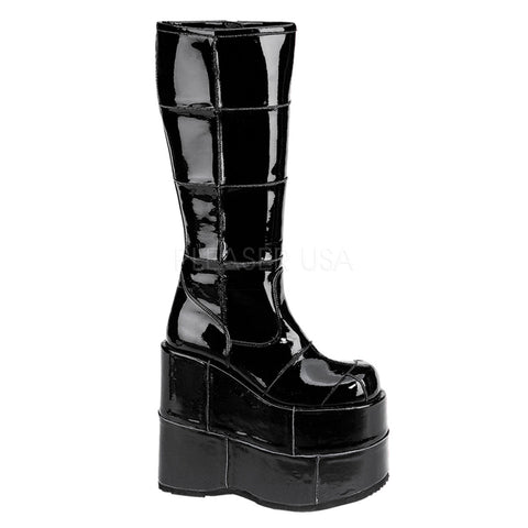 STACK-301 Knee High Rave Boot by Demonia Shoes