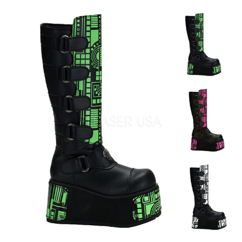 TECHNO-850UV Cyber Platform Boots by Demonia Shoes