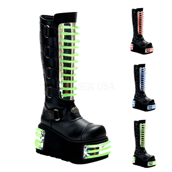 TECHNO-854UV Cyber Platform Boots by Demonia Shoes