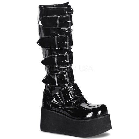 TRASHVILLE-518 Men's Gothic Knee High Boots by Demonia Shoes