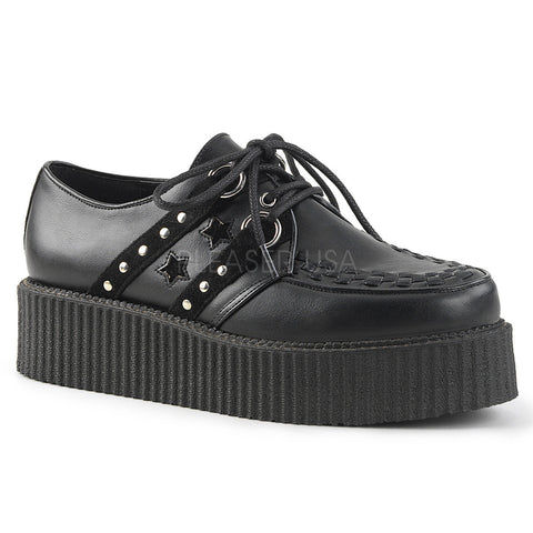 V-CREEPER-538 Studded Creeper by Demonia Shoes