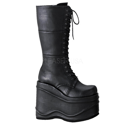 WAVE-302 Gothic Platform Boot by Demonia Shoes
