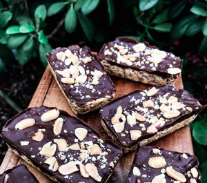 PB + Choc Coconut Rice Crispy Slice!