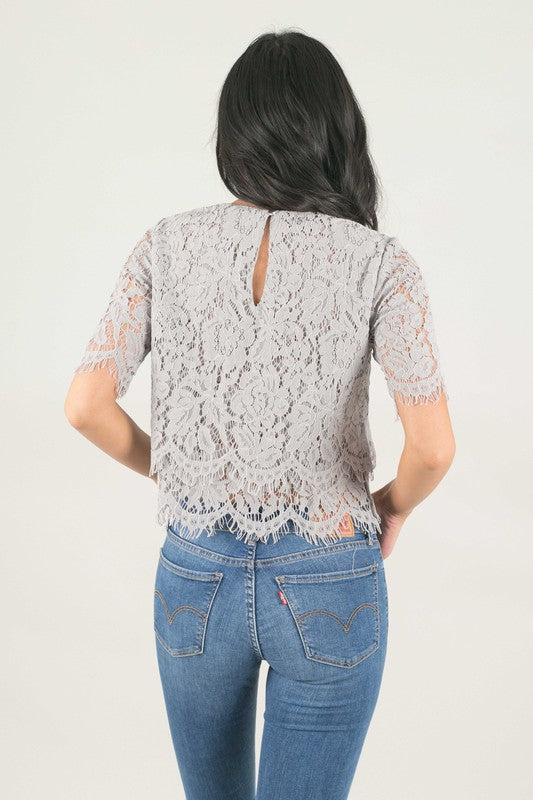 Mary Lace Crop Top