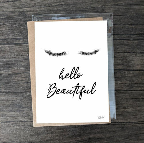 """Hello Beautiful"" card"