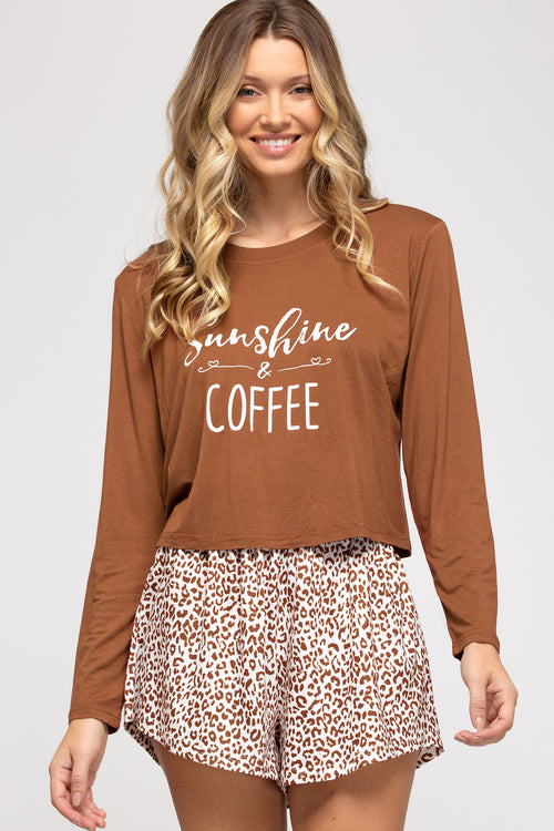Sunshine & Coffee PJ Set