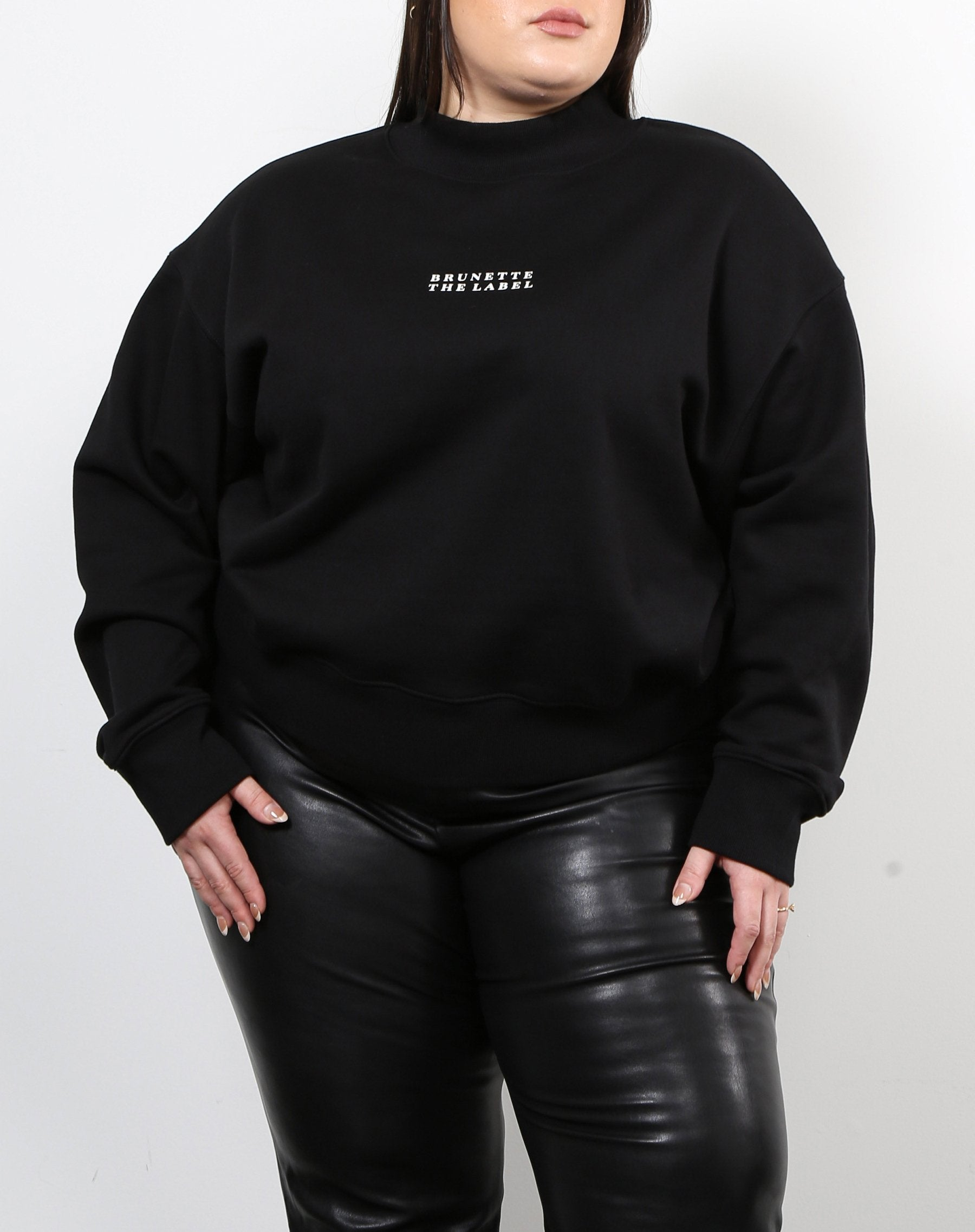 "The ""BRUNETTE THE LABEL"" Step Sister Mock Neck Sweatshirt"
