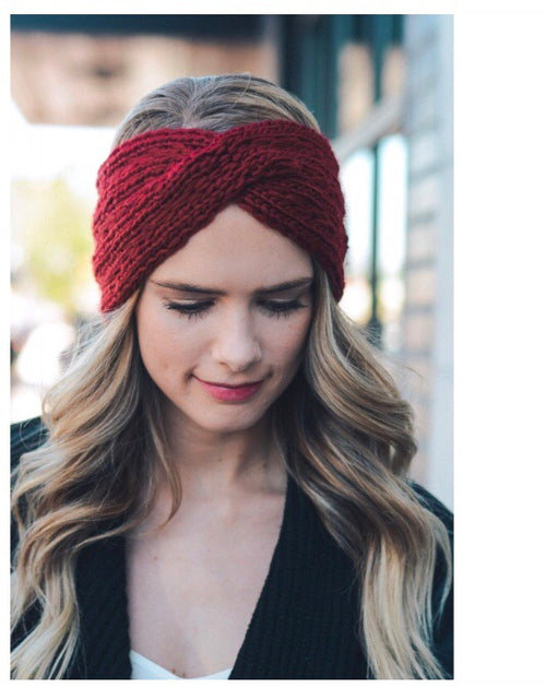 Knit headband- Rust & Wine