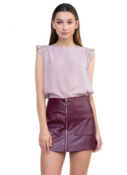 Kate Blouse- pale plum