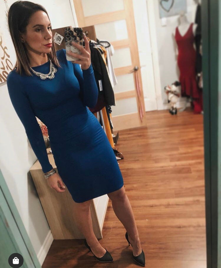 *The Closet-Truth or dare Bodycon dress (navy & royal blue)