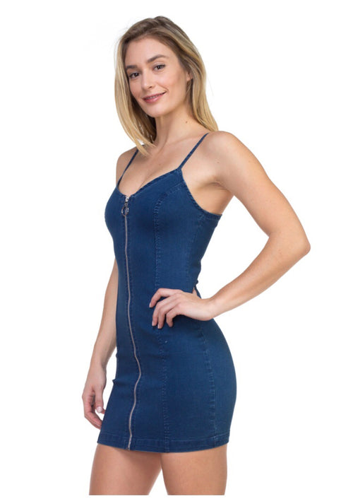 Pop & Lock Denim Dress