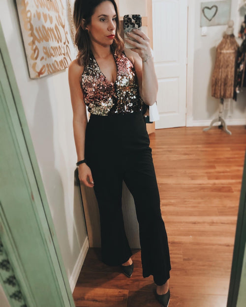 *The Closet- Sequin Jumpsuit