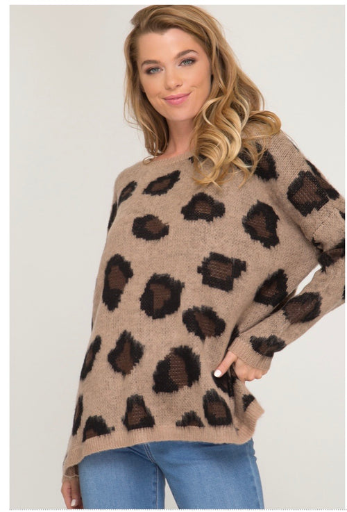 * Leopard sweater