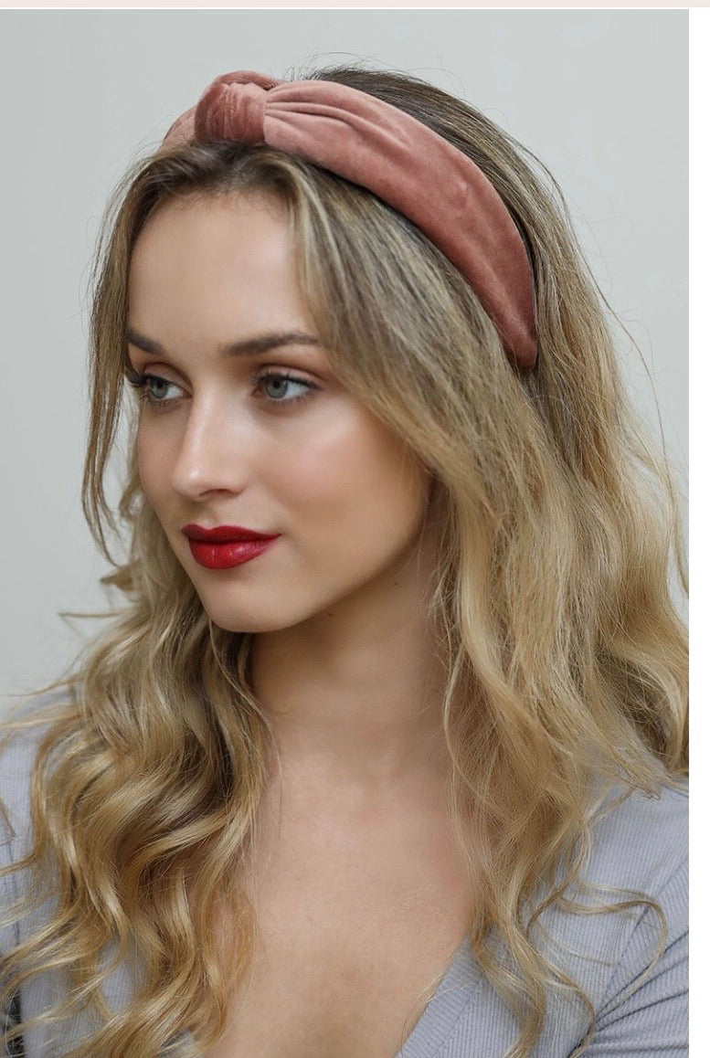 Velvet Twist Knot Headband