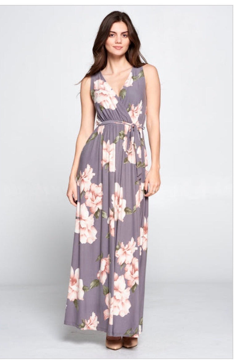 Laura Wrap Maxi Dress