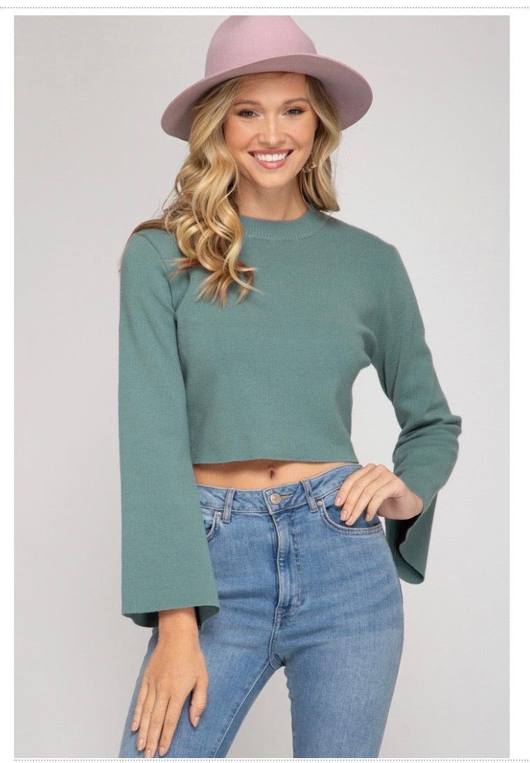 Bell cropped sweater