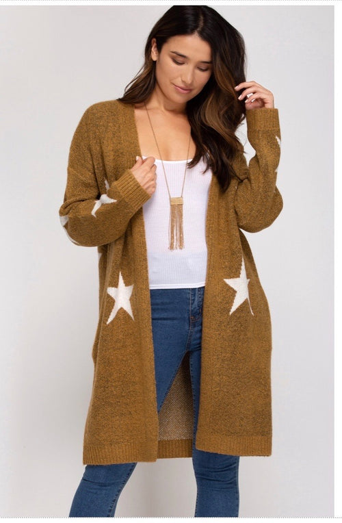 * Star Knit Cardigan
